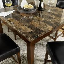 dorel living andover 5 piece faux marble counter height dining set