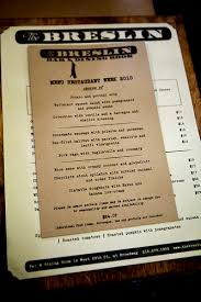 the breslin restaurant week the wandering eater