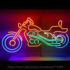 neon sign real glass neon signs for harley davidson motor
