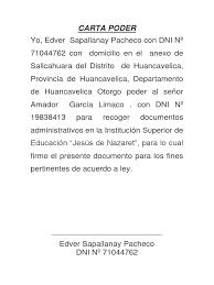 Ejemplo De Carta Poder En Mexico