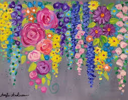 Cotton Swab FLOWERS Acrylic Painting Tutorial On Youtube By Angela Anderson Spring Flowers