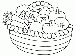 Colouring Pictures Of Fruit Basket