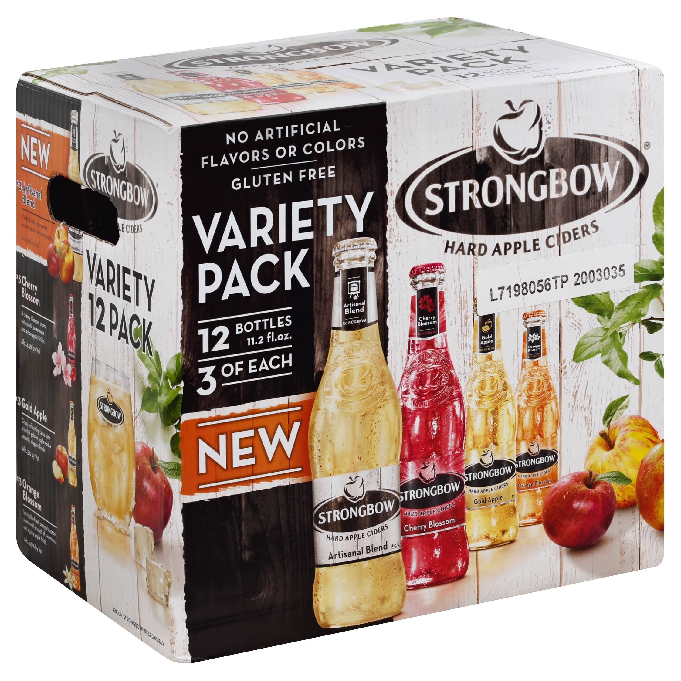 Strongbow Hard Apple Cider - Variety Pack, 11.2oz, 12pk