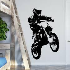 motorrad wand aufkleber dirt motocross jungen schlafzimmer