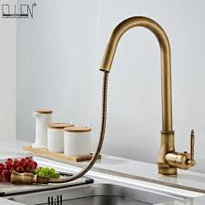 Kitchen Faucet Water Antique Bronze Kitchen Faucets Pull Out Cold Sink Swivel