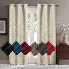 Thermal Curtain Liner Grommet by Virginia Leafy Blackout Grommet Curtain Panels Set Of 2