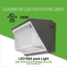 snc ul 100w led wall light led wallpack outdoor wall lights ip65