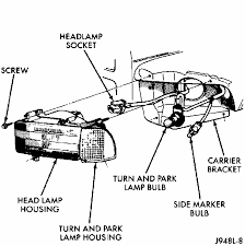 how o remove 1996 dodge ram 1500 headlight assembly