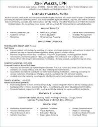 Lpn Nursing Resume Examples 9 Best Images On