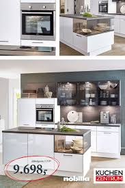 küchenkombination mit glas elementen haus küchen küche