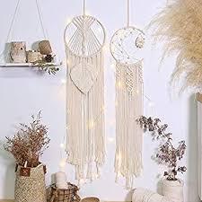 artilady makramee traumfänger für schlafzimmer boho wandbehang handgefertigt gewebter traumfänger für heimdekoration ornament handwerk geschenk
