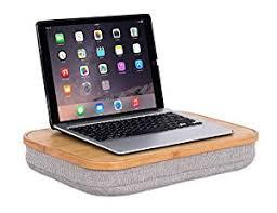 amazon com birdrock home bamboo lap desk with laptop storage