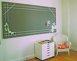 homasote bulletin board with ribbon design inspired by martha