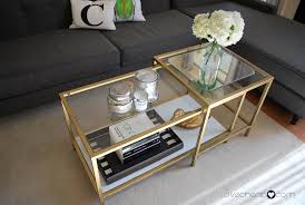 Used Ikea Lack Sofa Table by Ikea Nesting Tables Barlow Nesting Tables Modern Coffee Table