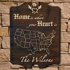 Home Is Where Your Heart Personalized Sign Signature Series