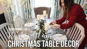 Rustic Glam Christmas Table Decoration Centerpiece Ideas