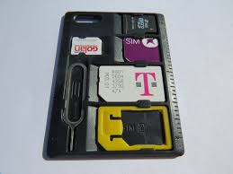 Slim pact SIM Card Holder & Microsd Card Storage Case Holds 4
