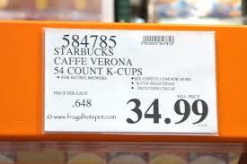 Starbucks Caffe Verona Dark K Cups Costco Price