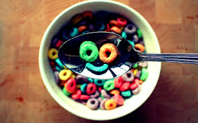 Smiley Face Tags Cereal Fruit Loops Bowl Image Resolution X 1796470