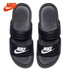 Original NIKE BENASSI ULTRA Women Shoes Sandals Slippers Ninjia Bandage Style Summer Beach Flats Casual In From Mother Kids On