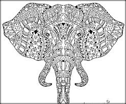 Realistic Elephant Coloring Pages For Toddlers
