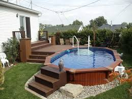 Above Ground Pool Ladder Deck Attachment by Patio Plus Above Ground Pools Decks Piscina Pinterest