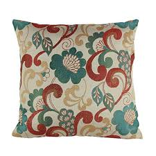 Puredown Jacquard Toss Pillow Case Home Throw Pillow Covers Floral