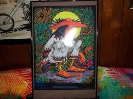 Vintage 70s SAN MEZCALITO Black Light POSTER Rick Griffin