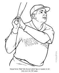 Free Printable Baseball Coloring Sheets