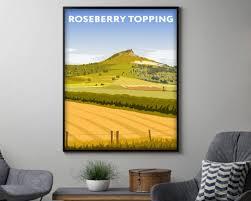 kunst roseberry topping vintage travel