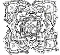 Hard Coloring Pages Of Flowers Sheets Free Printable Mandala Adults