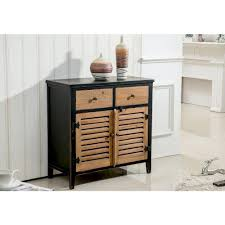 Worldwide Homefurnishings Rustic Pine And Black Storage Cabinet Regarding Measurements 1000 X