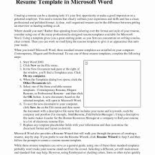 Resume Template Word 2007 Example Resume Microsoft Word New Fresh