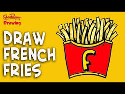 How to draw French Fries – really easy drawing tutorial