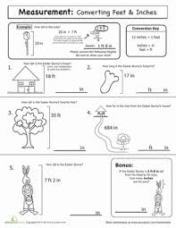 Spring Math Measurement Worksheet