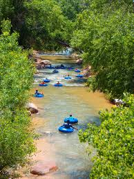 River Tubing Cliffrose Lodge & Gardens Zion National Park