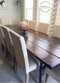 Learn How To Build An Easy Industrial Farmhouse Pipe Leg Dining Table That Seats Up 12 People For Under 300