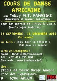 cours cuisine arlon rentrée 2017 cours de danse africaine avec tebby ramasike arlon