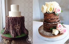 Tree Bark Wedding Cake By Bobbette Belle Left Chocolate Crepe Lismi Wong