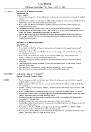 Download Technical Support Engineer Resume Sample As Image File