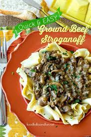 Quick Easy Weeknight Dinner Ground Beef Stroganoff