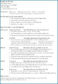 Management Trainee Resume Sample For Restaurant Together With Objectives