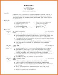 Waitress Resume Example Top Rated Restaurant Waiter Sample Server Free Skills Hotel