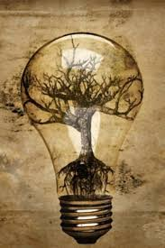 Abstract Lightbulb Tree Roots