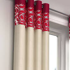 Faux Silk Eyelet Curtains by Skye Red Faux Silk Eyelet Curtains Eyelet Curtains Curtains