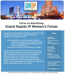 Grand Rapids IP Women s Forum News