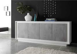 lomado wohnzimmer sideboard solenzo 63 in weiß lack matt beton optik italienisches design mit soft b h t 207 80 50cm