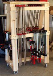 building the newwoodworker com mobil clamp rack woodworking info