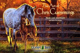Leanin Tree Christmas Cards by Amazon Com The Art Of Chris Cummings Ast90630 Blank Horse