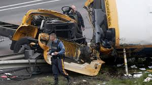 2 Dead, Dozens Hurt When School Bus Collides With Dump Truck In ... Truck Accident Lawyer Nj Have You Been Injured In A Teacher Student Killed Horrific Accident Volving School Bus Driver Tanker Truck On New Jersey Turnpike Two Dead As Crashes With Triaxle Dump Collides And Overturns Onto Vehicle Sending Fedex Tractor Trailer Overturns Snarling Traffic Man Dies Crash With Ctortrailer Police Nbc Company Involved Deadly Crash Has Causes Big Delays On Route 78 Cbs Local Deli Meat Collides Bread Highway Mount Olive 80 School Dump